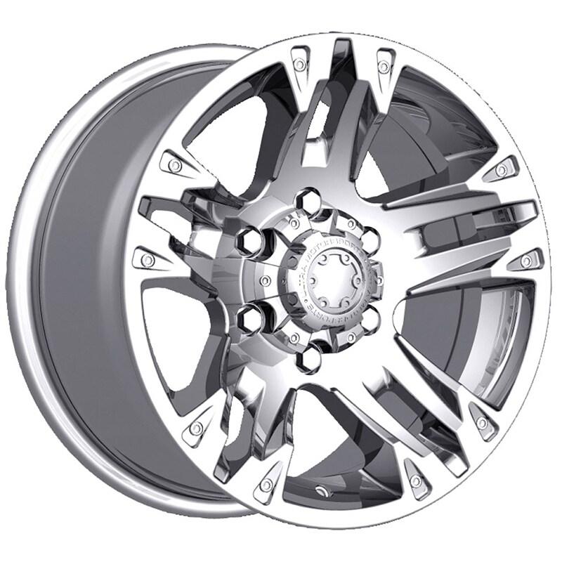 Ultra 235c maverick 17x8 6x139.7 +25et 106.10mm chrome plated wheel