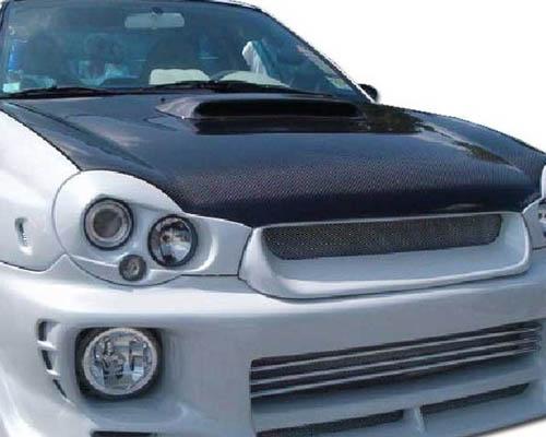 Advan Carbon BKSI02-AC978HC OEM Style Carbon Fiber Hood with STi Scoop Subaru Impreza   WRX 2002-2003