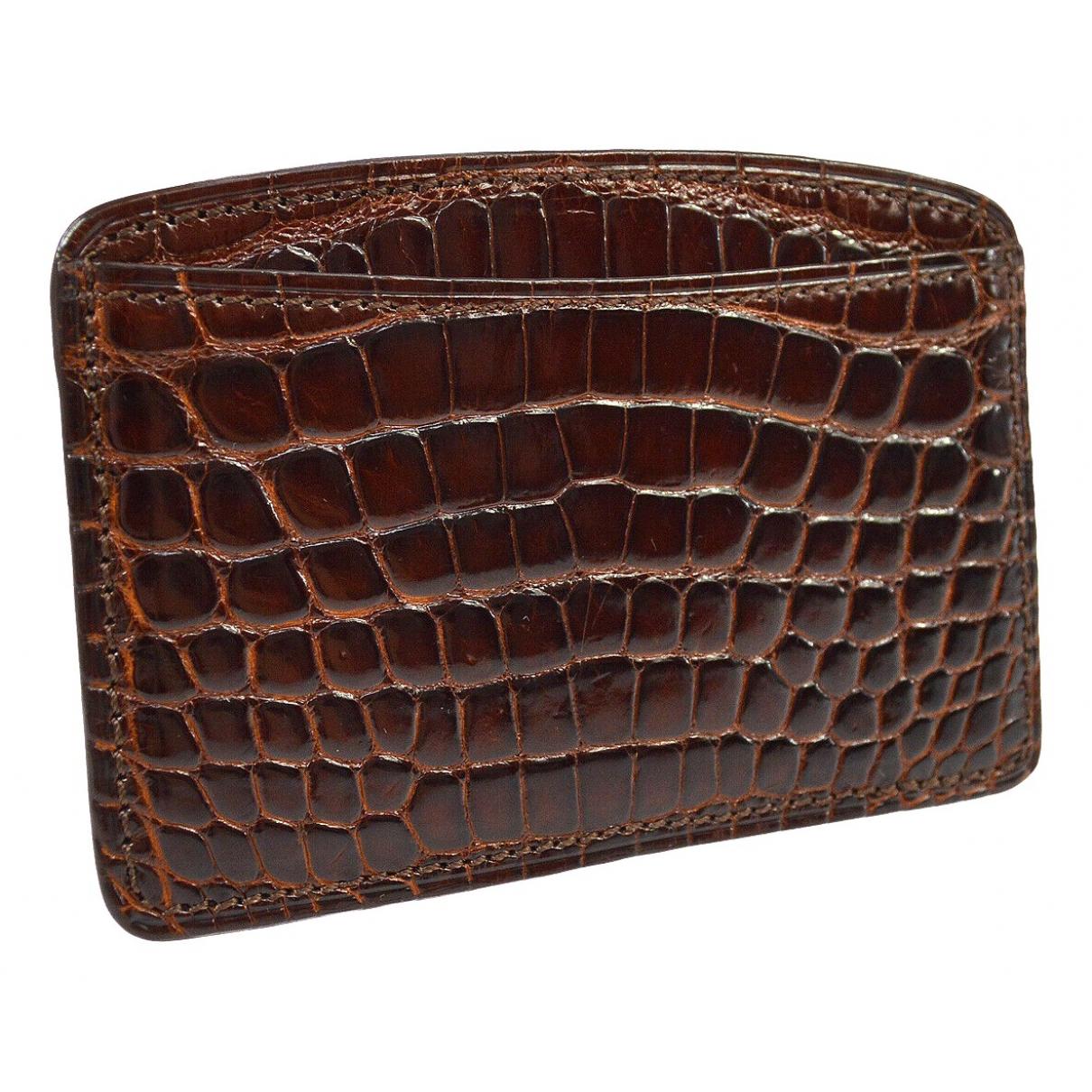 Louis Vuitton \N Brown Crocodile Purses, wallet & cases for Women \N