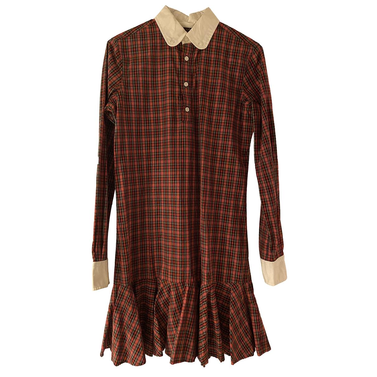 Polo Ralph Lauren \N Kleid in  Rot Baumwolle