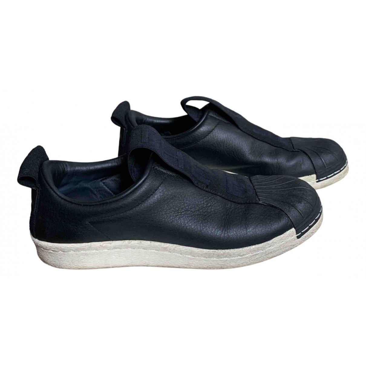 Adidas Superstar Sneakers in  Schwarz Leder