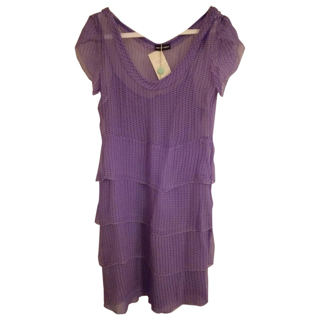 Emporio Armani - Robe   pour femme en soie - violet