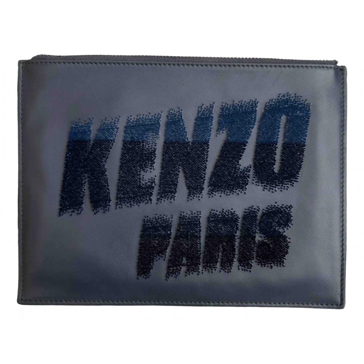 Kenzo \N Kleinlederwaren in  Marine Leder