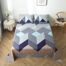 Flache Decke mit Farbblock Muster