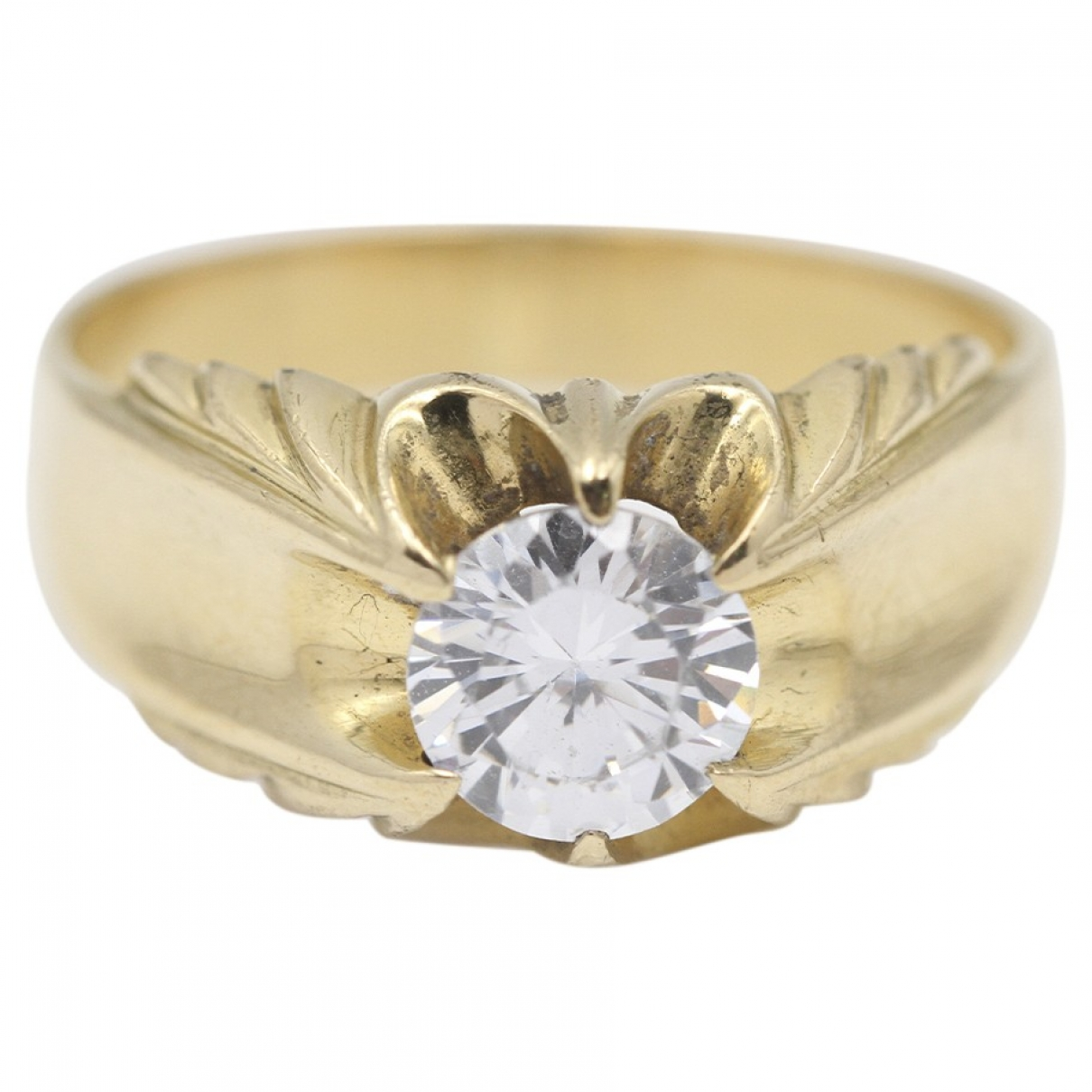 Non Signé / Unsigned \N Gold Yellow gold ring for Women 66 EU