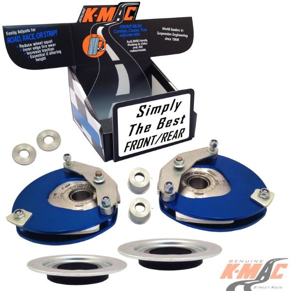 K-Mac Stage 3 Full Race Front Camber & Caster Strut Mount Kit BMW Mini MK III Series F54/F60 15-18