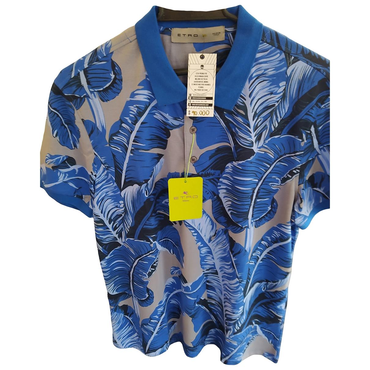 Etro - Polos   pour homme en coton - bleu