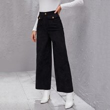 Corduroy High Waist Wide Leg Pants