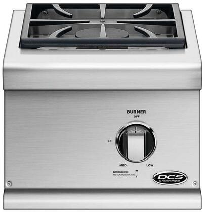 BGC131BIN 15 Natural Gas Single Sealed Side Burner with 17 000 Total BTUs for Built-In Installation  in Brushed Stainless