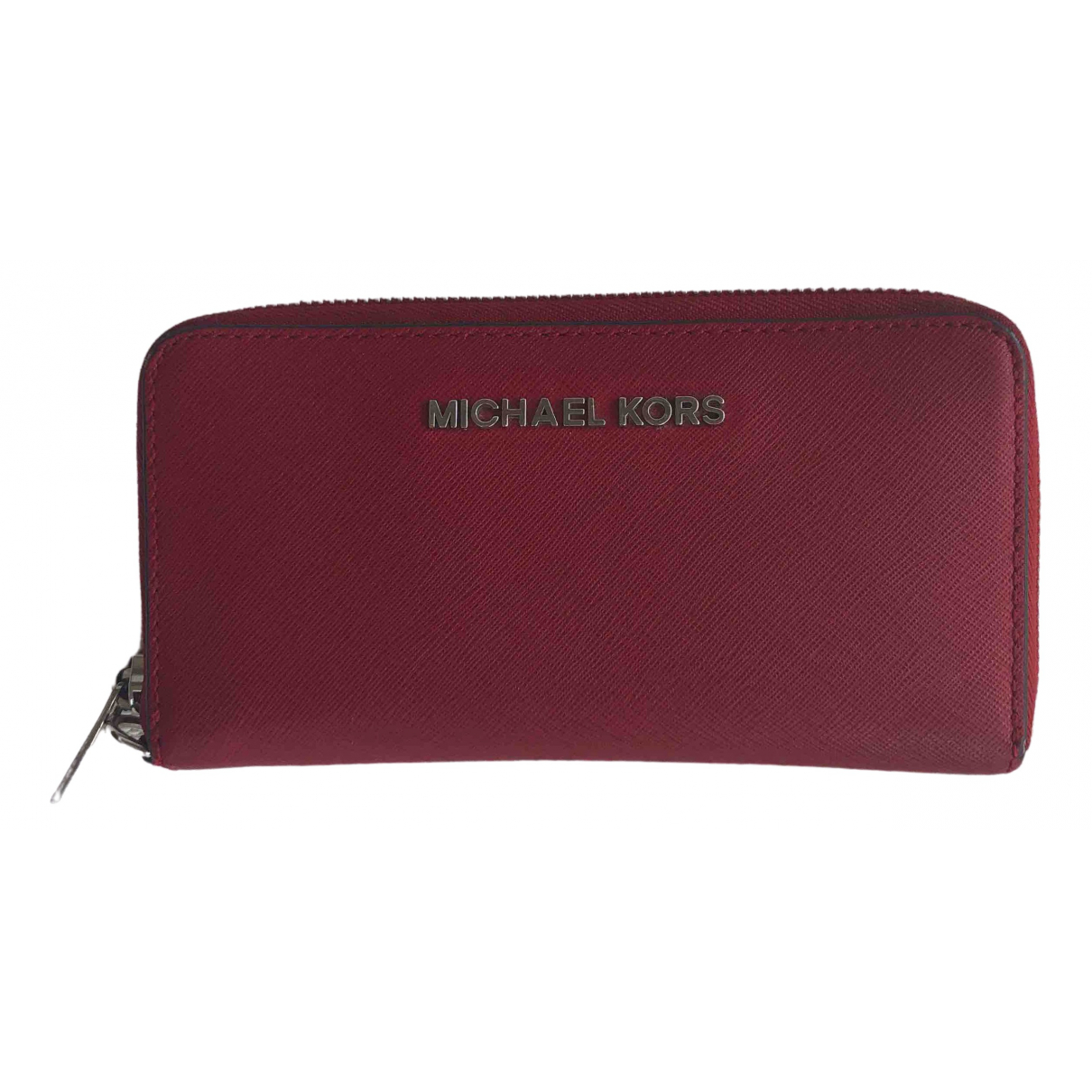 Michael Kors Jet Set Red Leather wallet for Women \N
