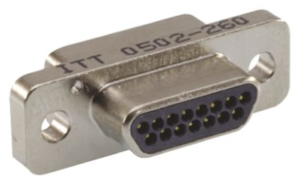 ITT Cannon , MDM Panel Mount, 37 Pin D-sub Connector Plug Micro-D
