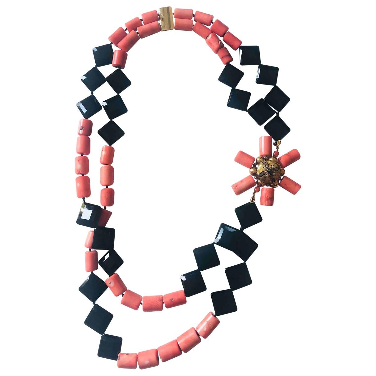 Non Signe / Unsigned Corail Halskette in Metall