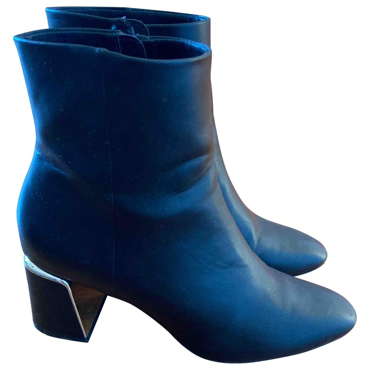 Zara \N Black Leather Boots for Women 39 IT