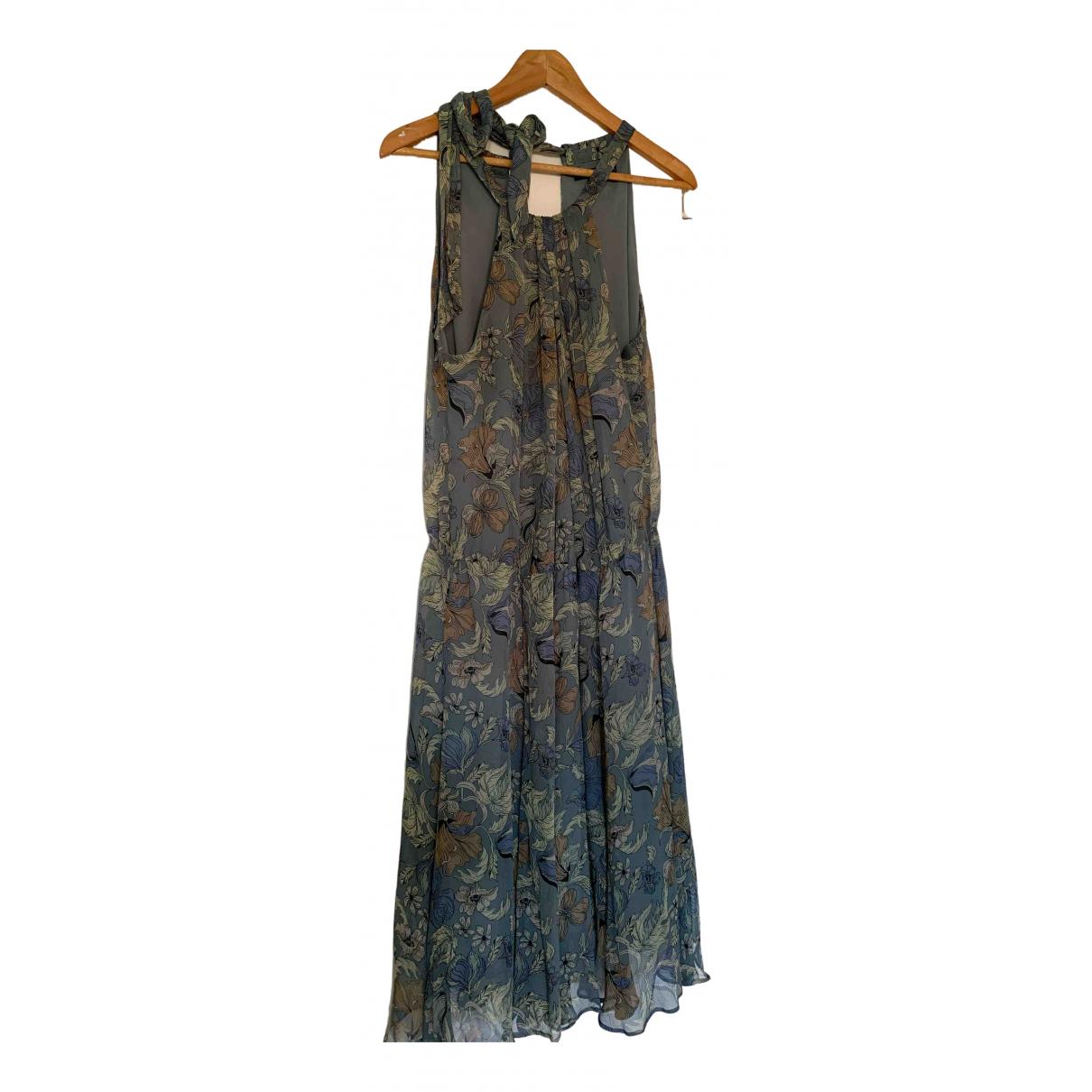 Betty Jackson \N Kleid in  Blau Seide