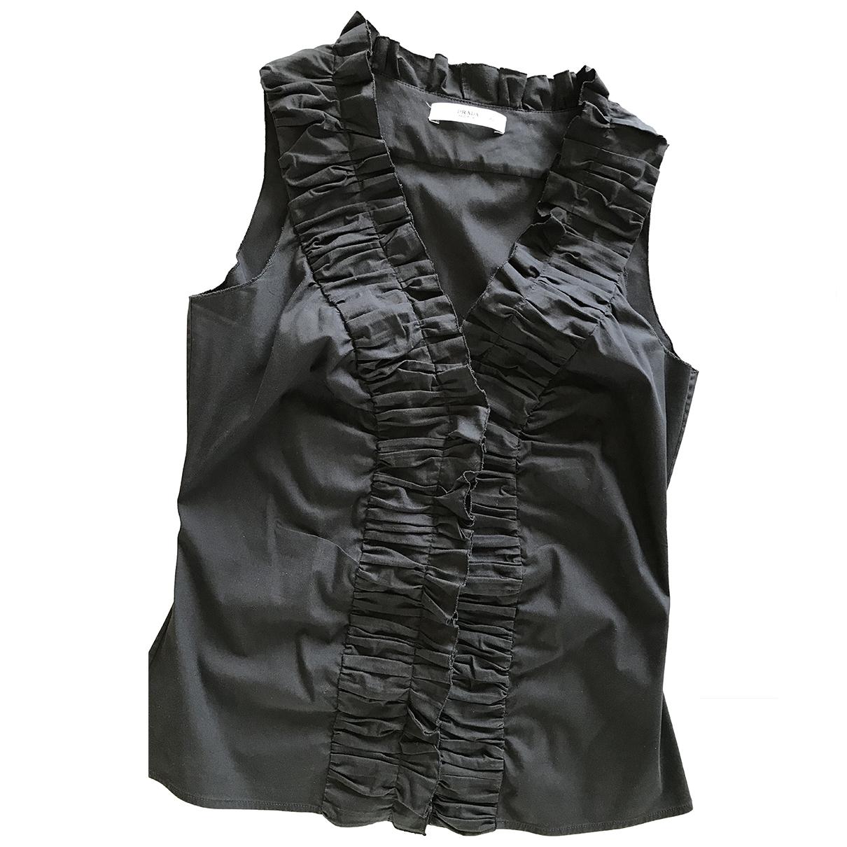 Prada N Black Cotton  top for Women 42 IT