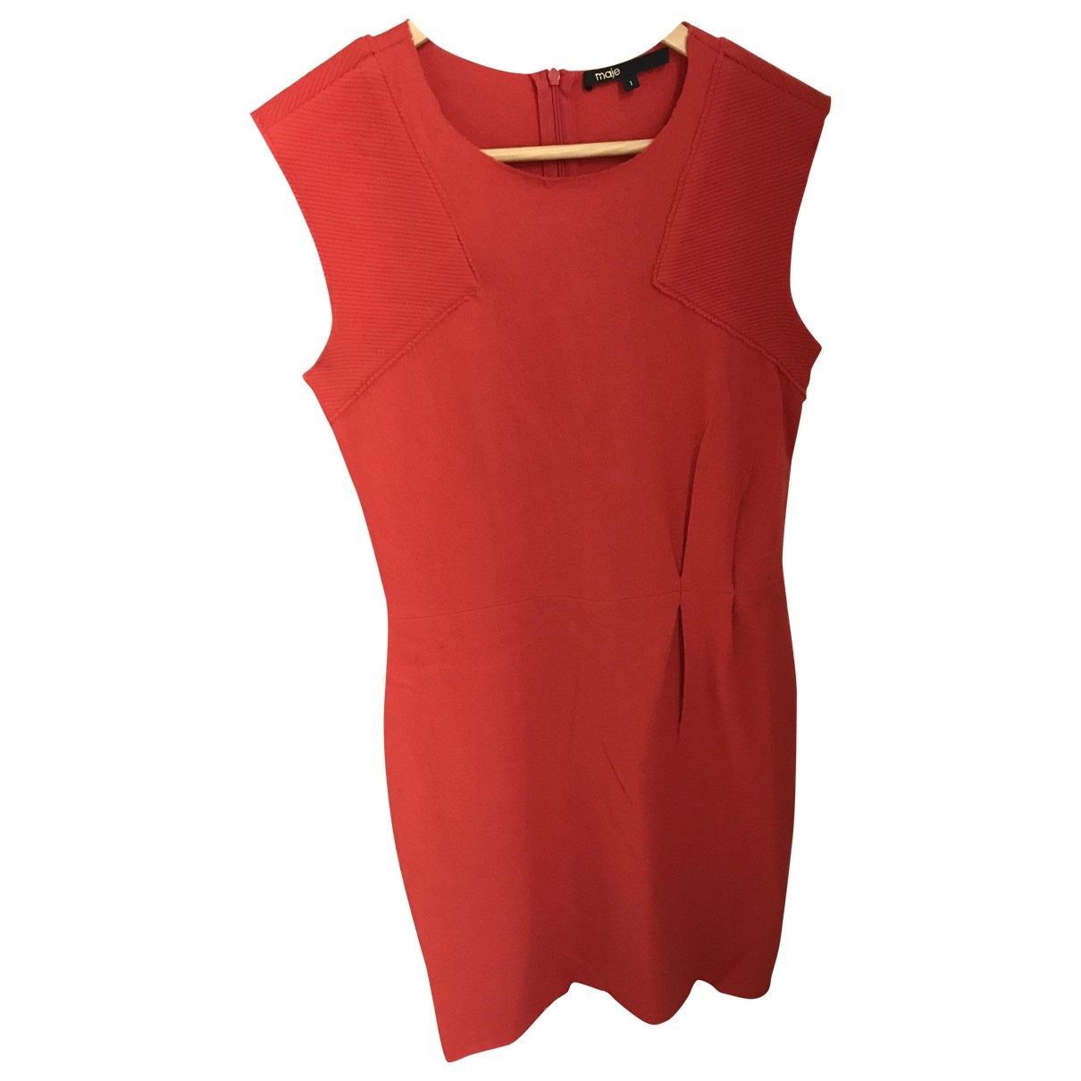 Maje \N Kleid in  Rot Wolle