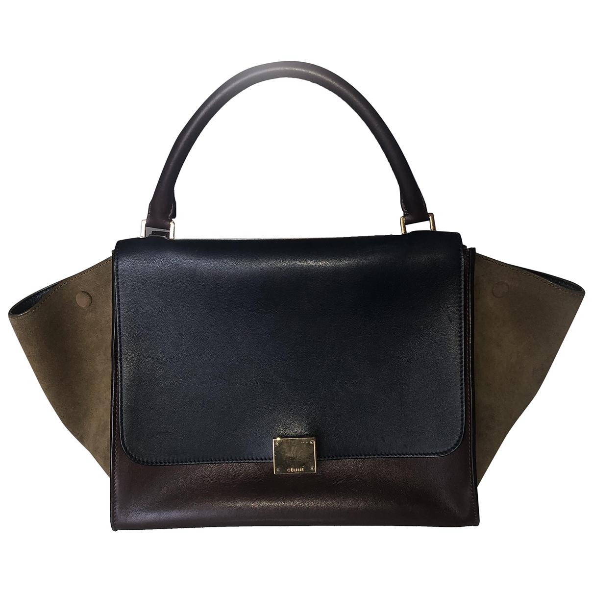 Celine Trapèze Burgundy Leather handbag for Women \N