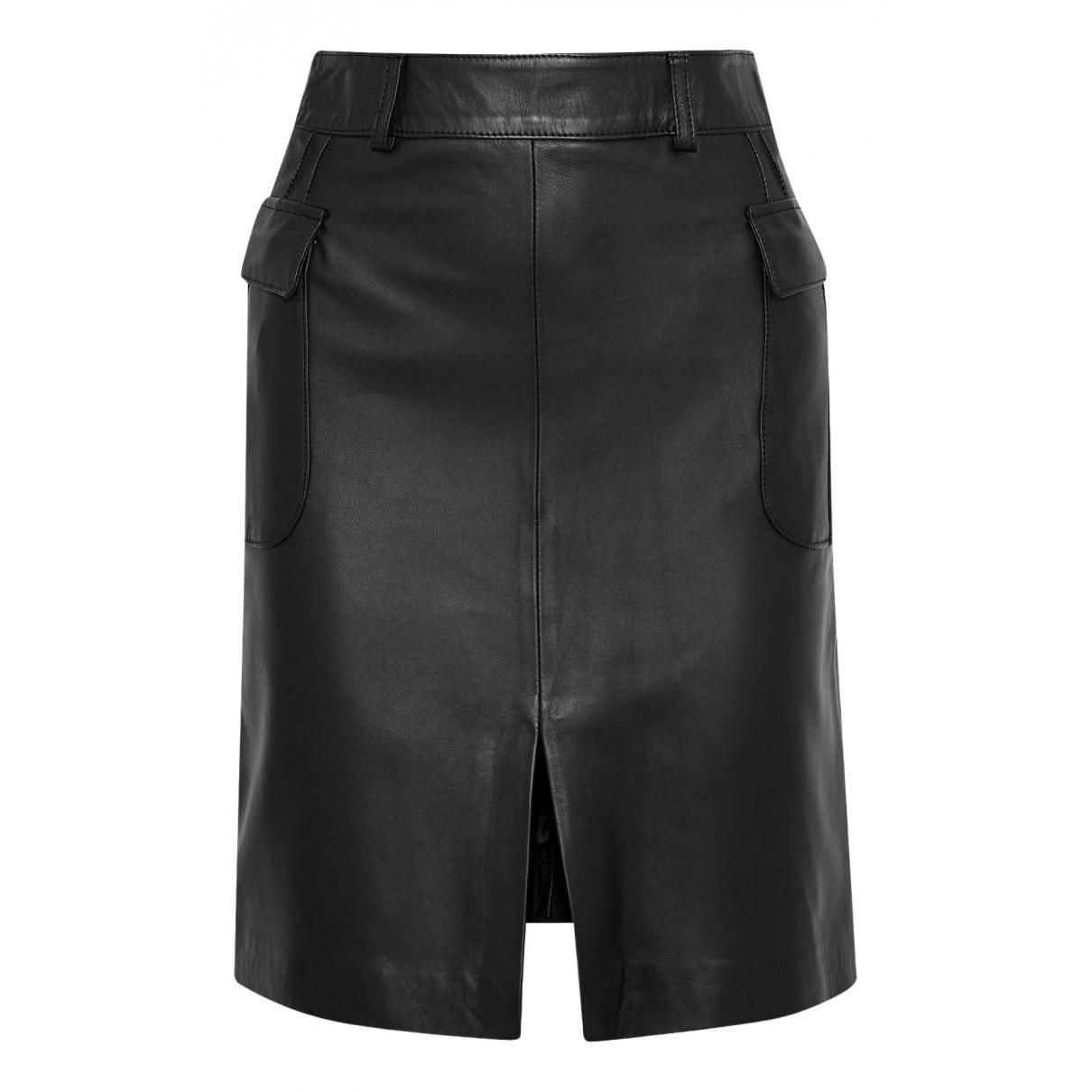 Iris & Ink - Jupe   pour femme en cuir - noir