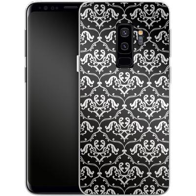 Samsung Galaxy S9 Plus Silikon Handyhuelle - Black French Lillies von caseable Designs
