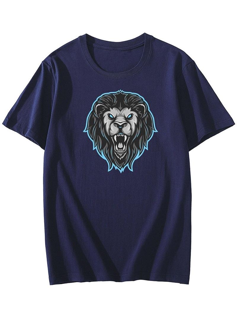 Ericdress Round Neck Print Men's Casual Slim Short Sleeve T-shirt