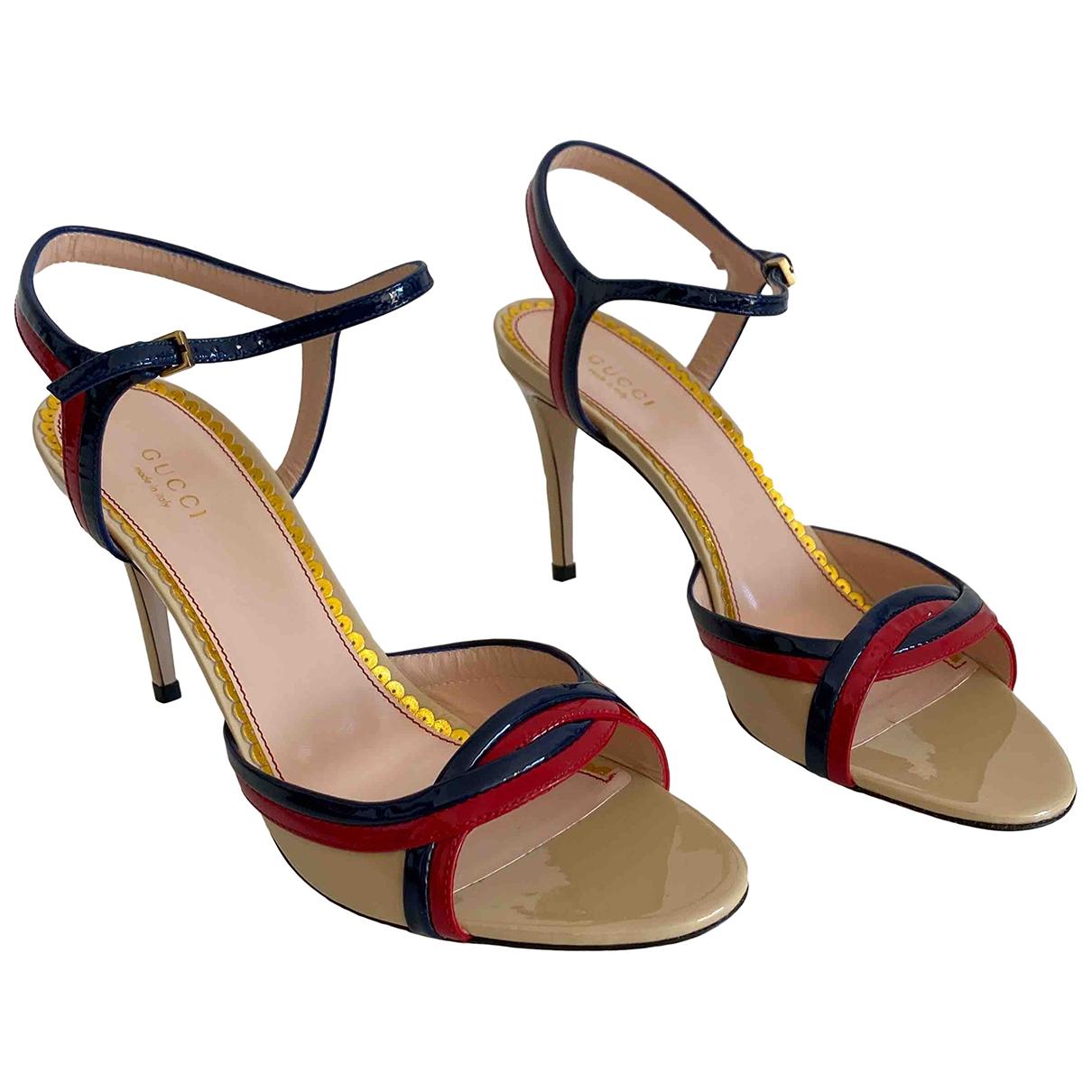 Gucci \N Multicolour Patent leather Sandals for Women 40 EU