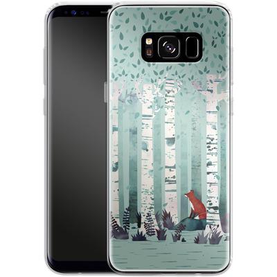 Samsung Galaxy S8 Silikon Handyhuelle - Birches von Little Clyde