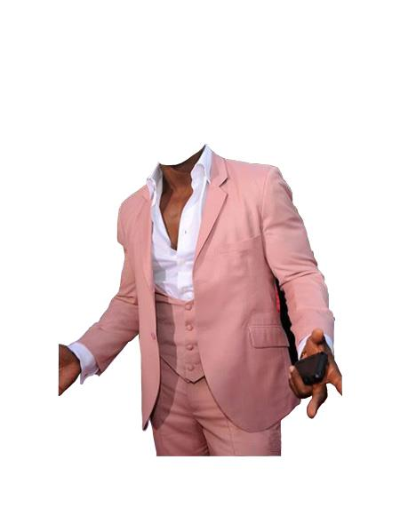 Mens Beach Wedding Attire Suit Menswear Pink 199