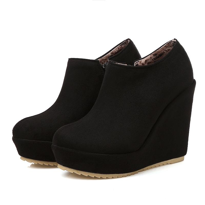 Ericdress Side Zipper Wedge Heel Women's Ankle Boots