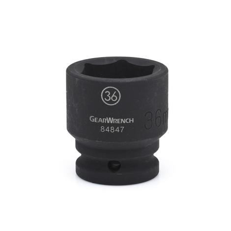 GearWrench Impact Socket, 3/4 In. Drive 6 Point Standard 34mm