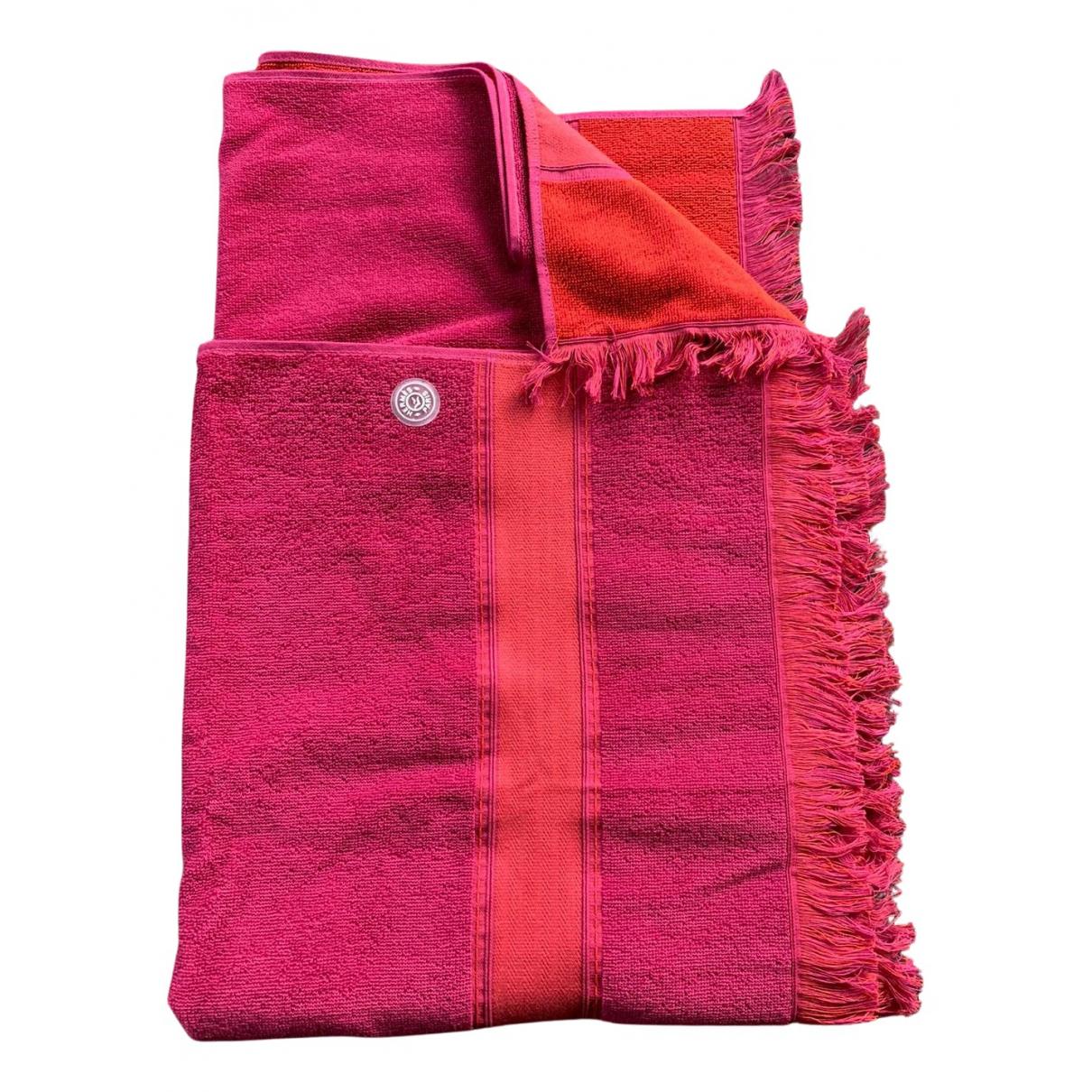 Hermès N Burgundy Cotton Textiles for Life & Living N