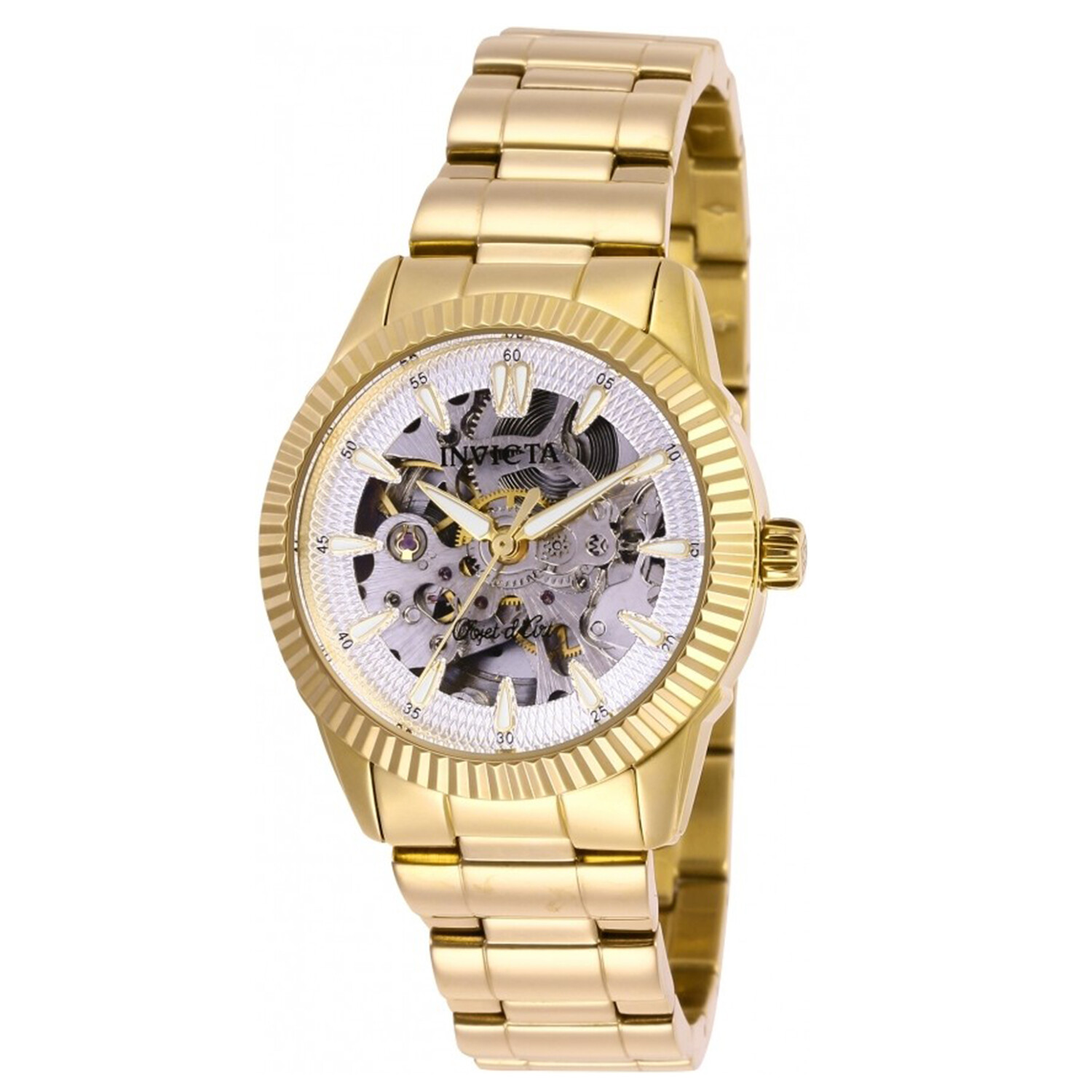 Invicta Women's Objet D Art 26363 Gold Stainless-Steel Hand Wind Fashion Watch