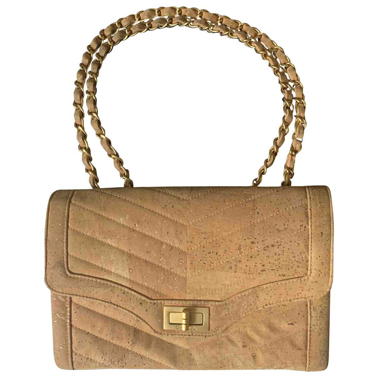 Chanel 2.55 Beige Wool handbag for Women \N