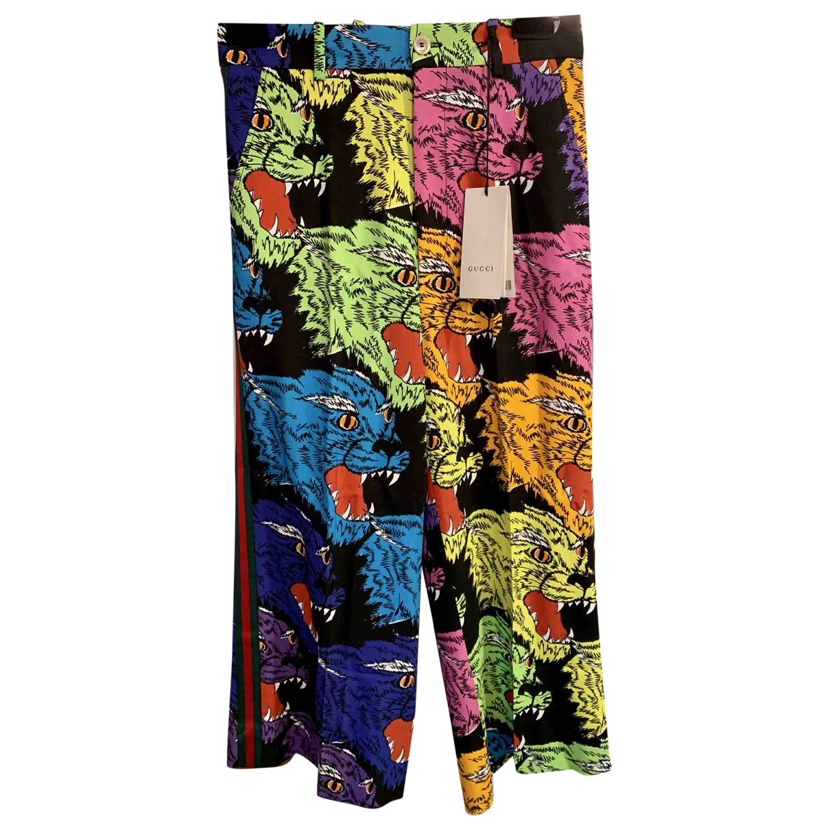 Gucci \N Multicolour Trousers for Women 40 IT