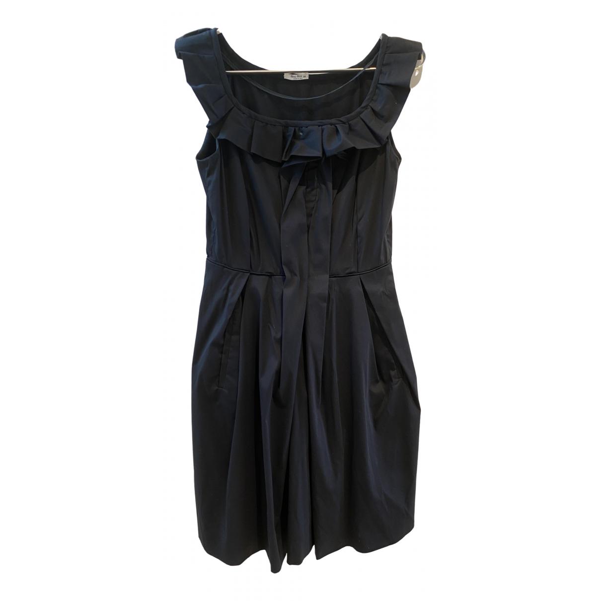Miu Miu \N Kleid in  Schwarz Baumwolle - Elasthan