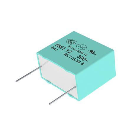 KEMET 150nF Polypropylene Capacitor PP 275 V ac, 560 V dc ±20% Tolerance Through Hole R46 Series (1500)