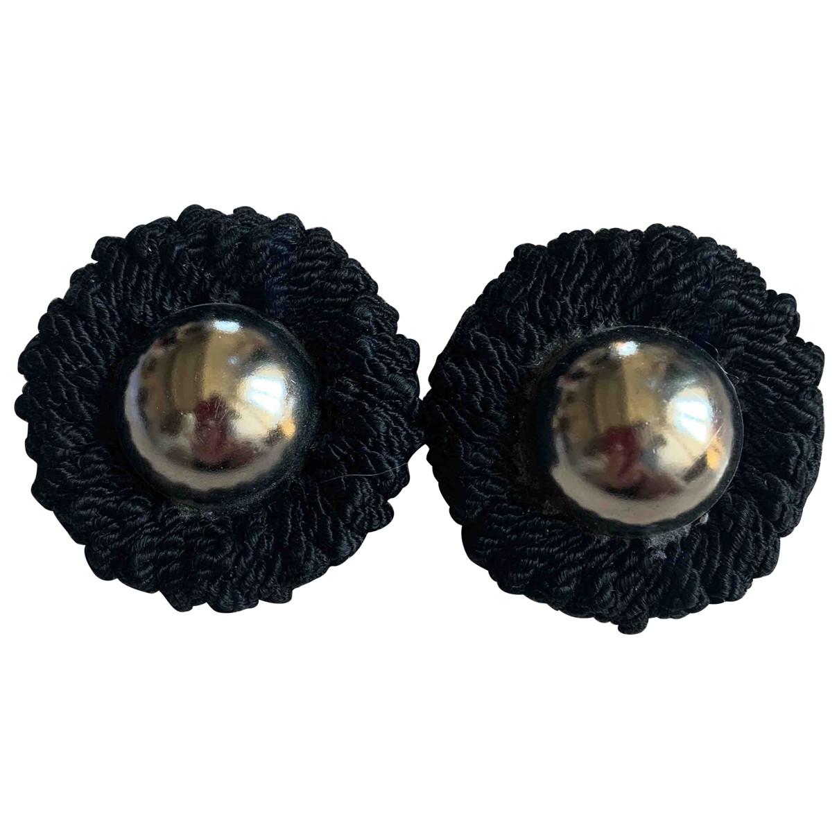 Moschino - Boucles doreilles   pour femme en toile - noir