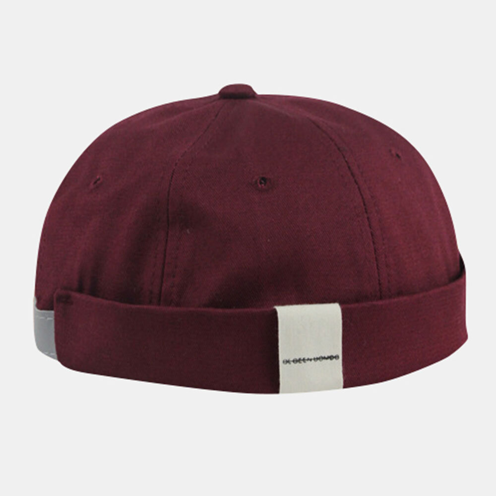 Hong Kong Style Hip Hop Melon Hat Without Eaves Hat Dome Fashion Wild Street Men And Women Retro Yuppie Hat
