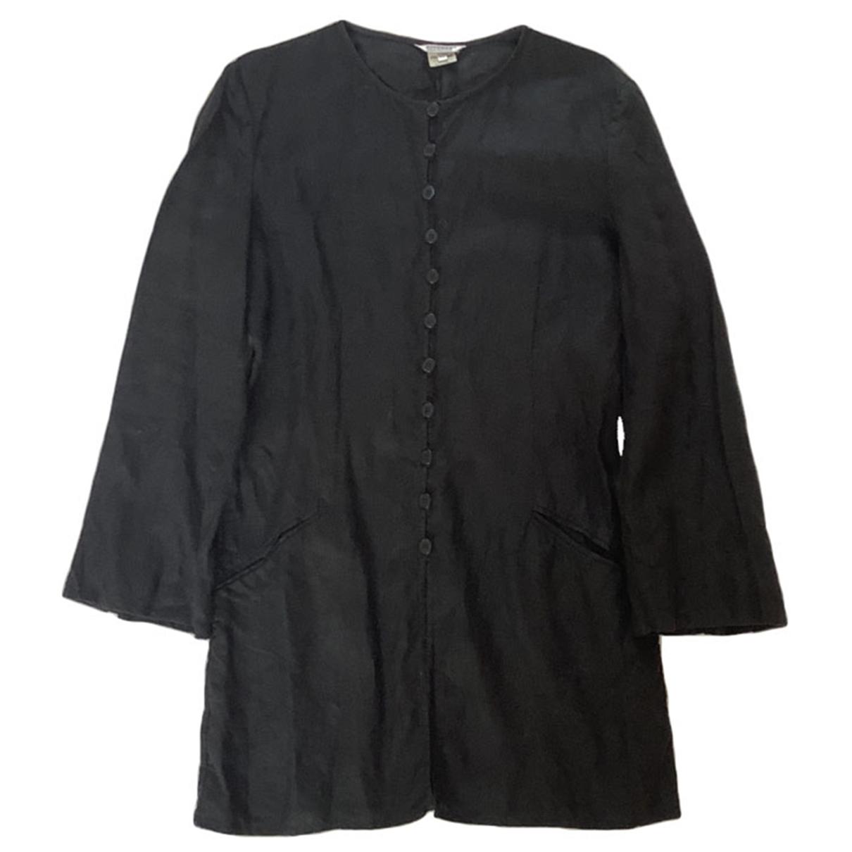 - Veste   pour femme en lin - noir