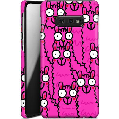 Samsung Galaxy S10e Smartphone Huelle - Lama Pink Dream von Flossy and Jim