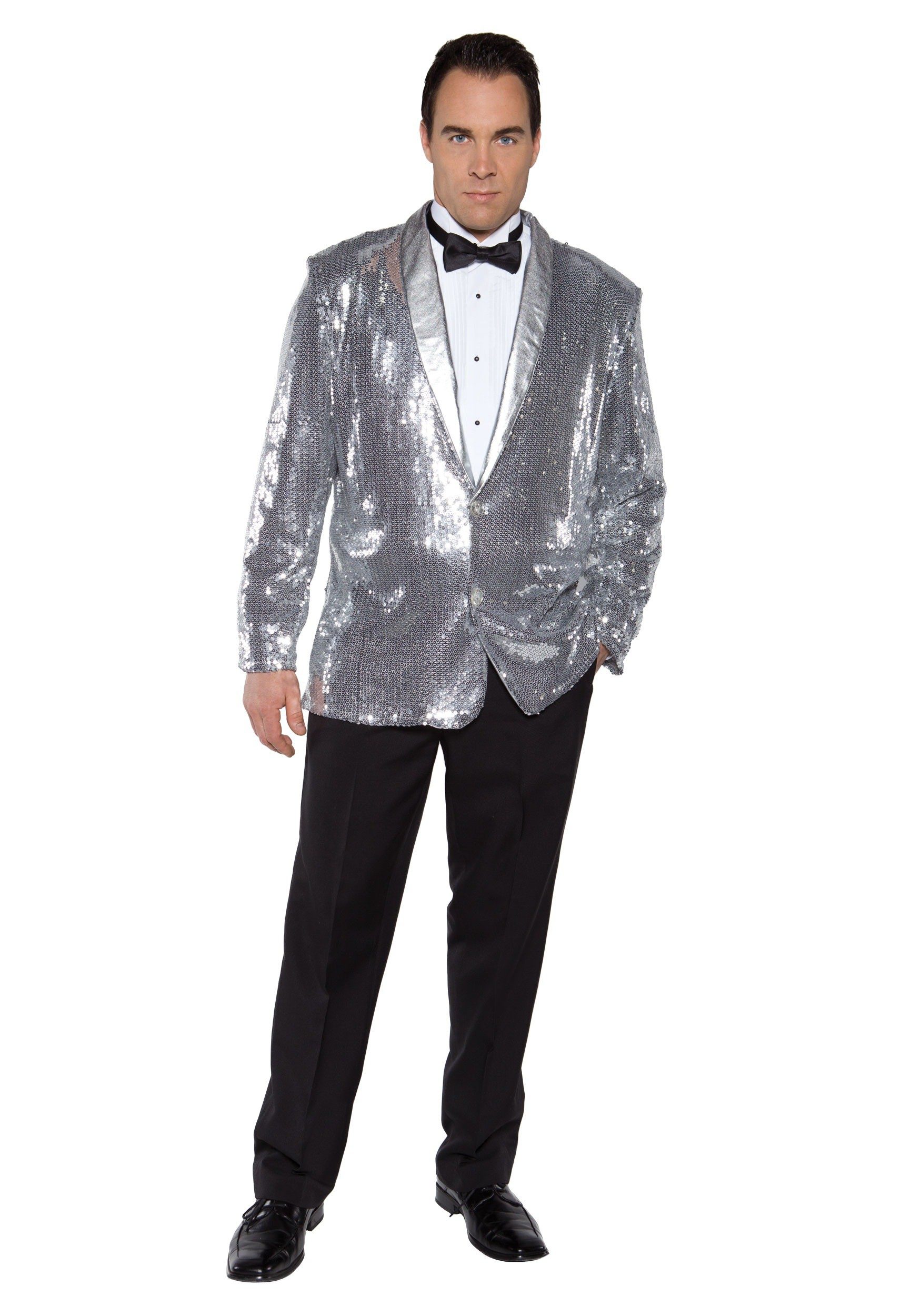 Silver Sequin Costume Men's Jacket