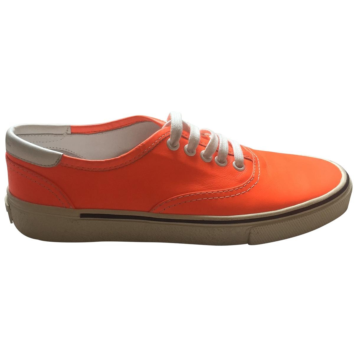 Saint Laurent - Baskets   pour femme en cuir - orange