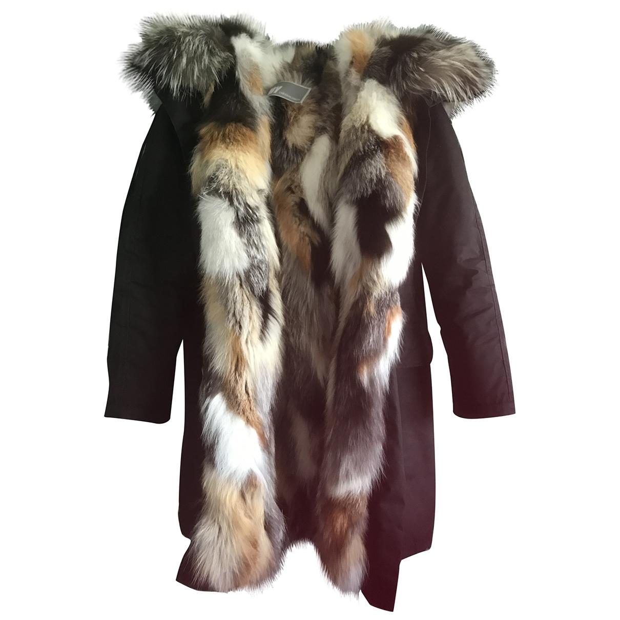 - Veste   pour femme en renard - noir