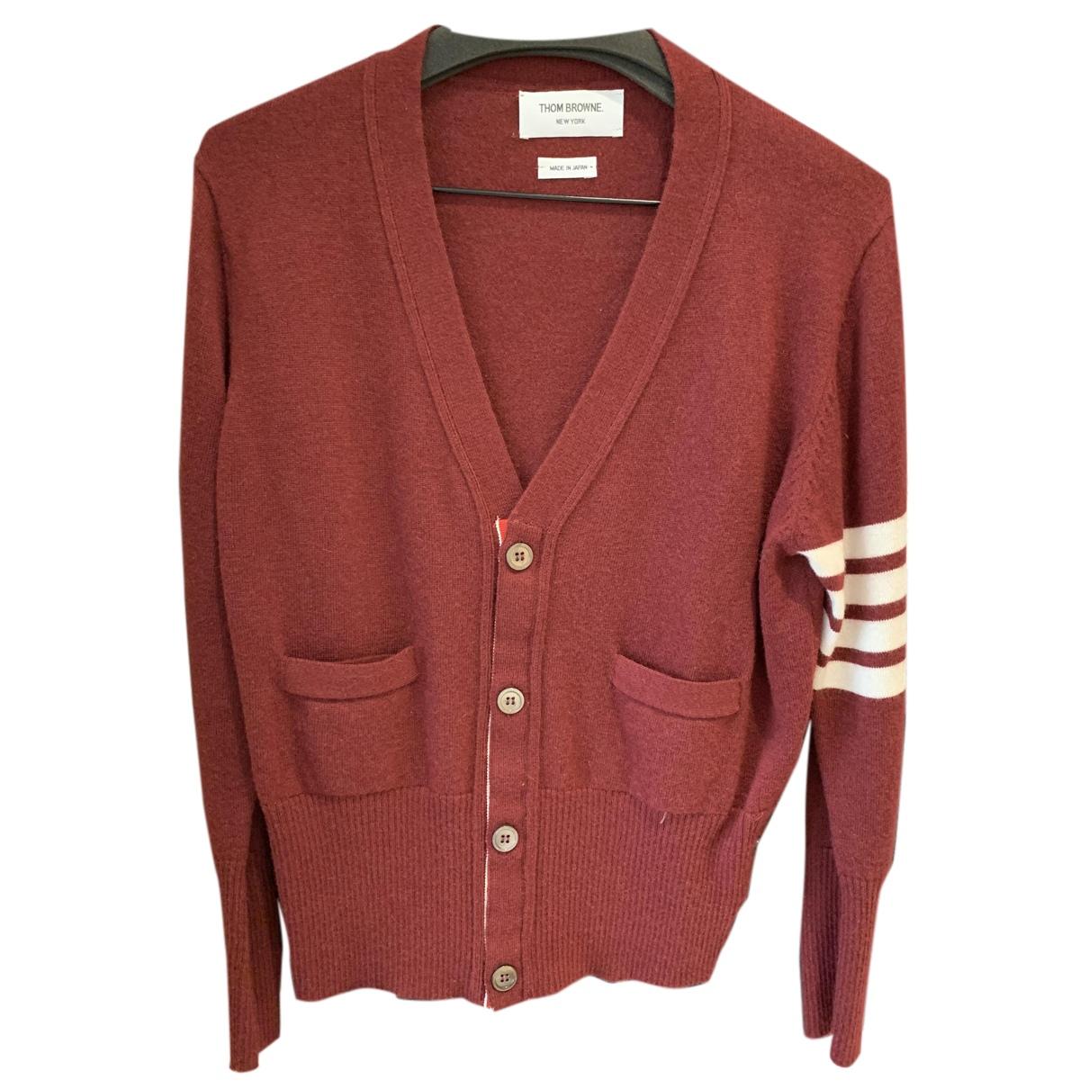 Thom Browne - Pulls.Gilets.Sweats   pour homme en laine - bordeaux