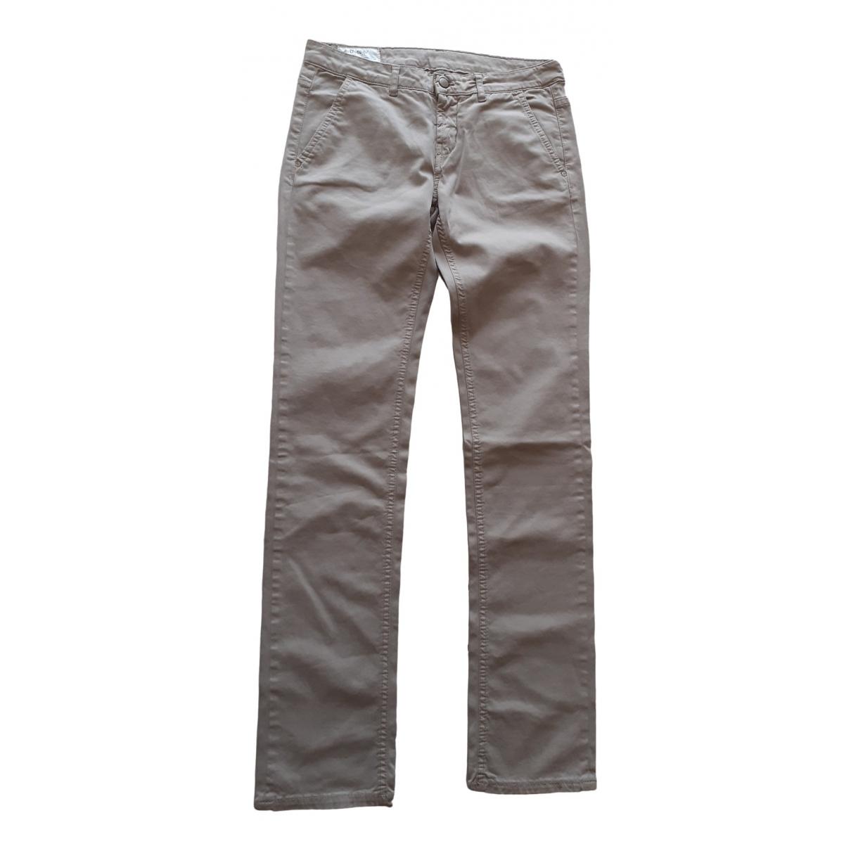 Pantalones en Algodon Beige Dondup