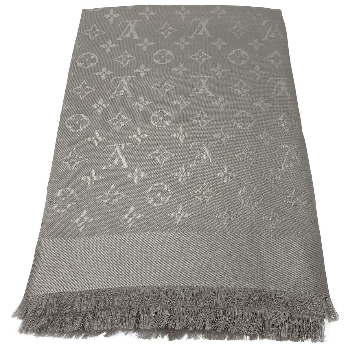 Louis Vuitton - Foulard Chale Monogram pour femme en laine - beige
