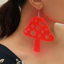 2 Paare Ohrringe mit Neon Pilz Dekor