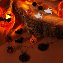 6pairs Halloween Design Earrings