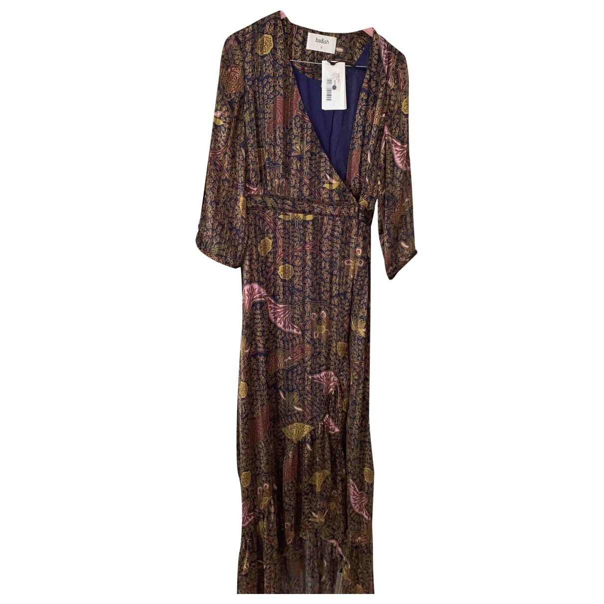 Ba&sh \N Burgundy Silk dress for Women 0 0-5