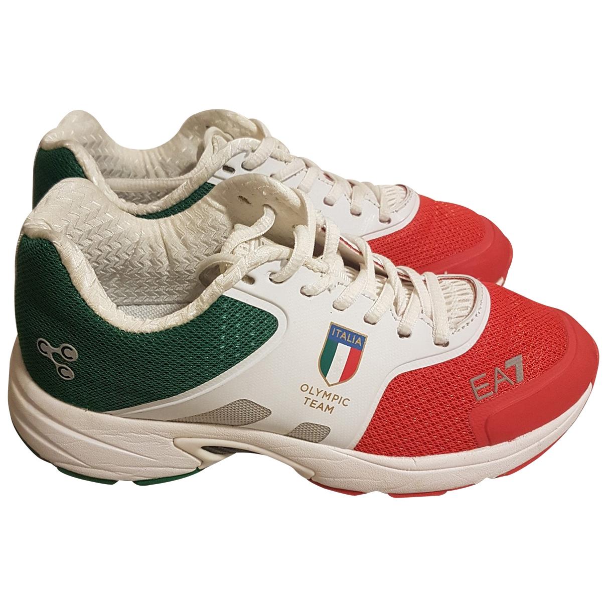 Emporio Armani - Baskets   pour femme en toile - multicolore