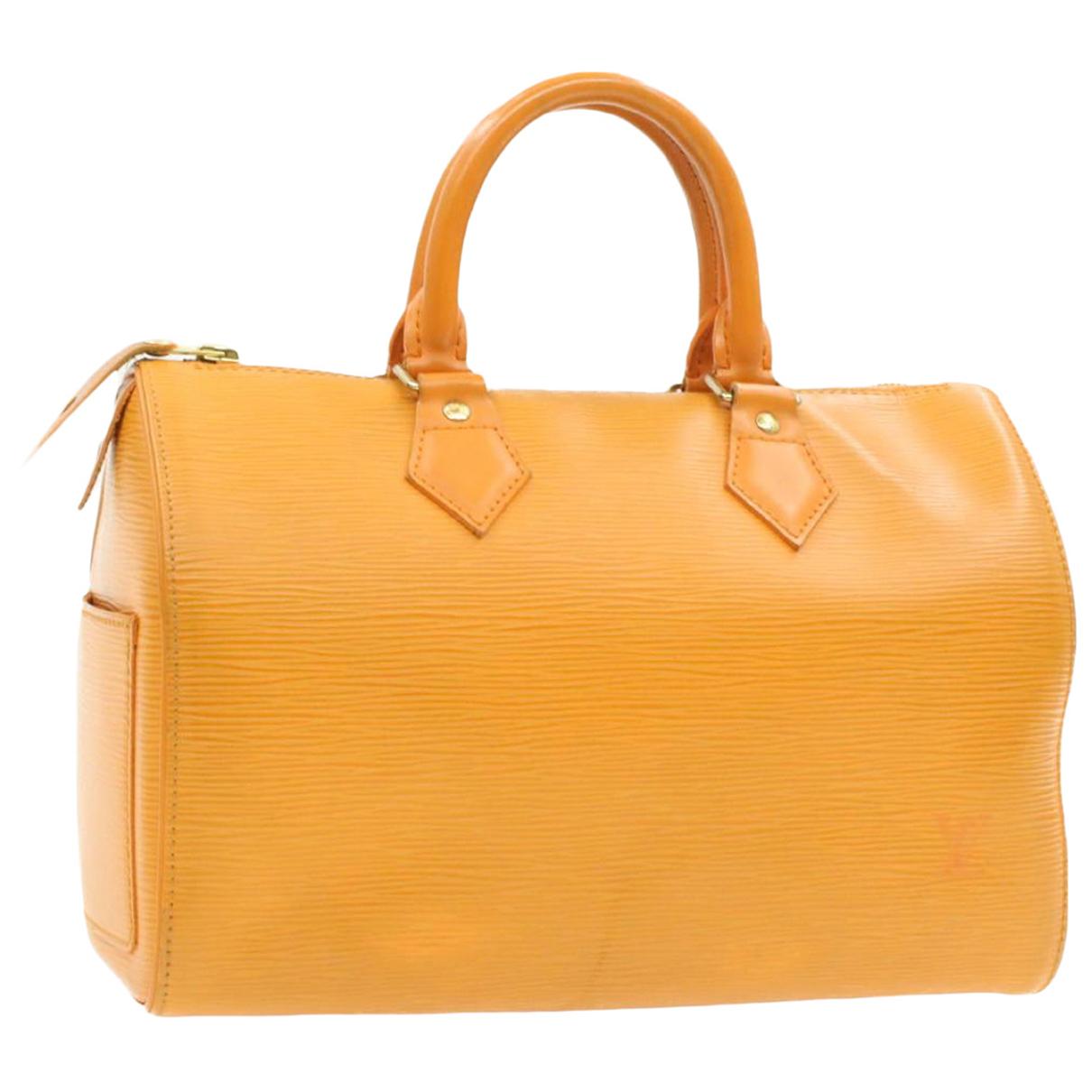 Louis Vuitton Speedy Doctor 25 Handtasche in  Orange Leder